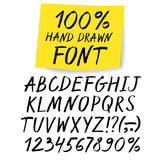 Marker hand drawn vector font with sticker Stock Photography