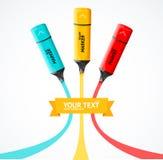Marker highlighter concept. Vector Stock Photos
