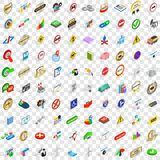 100 marker icons set, isometric 3d style. 100 marker icons set in isometric 3d style for any design vector illustration Stock Photo