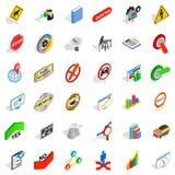 Marker icons set, isometric style. Marker icons set. Isometric set of 36 marker vector icons for web isolated on white background Royalty Free Stock Photos