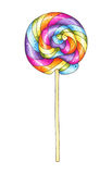 Marker illustration of colorful lollipop Royalty Free Stock Images