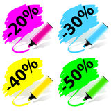 Marker labels set Royalty Free Stock Image