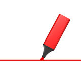 Marker with line Royalty Free Stock Image