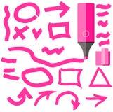 Marker Line Element Set Flat Design Stock Image