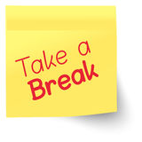 Marker Note - Take a Break Stock Image
