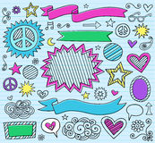 Marker Notebook Doodles Vector Illustration Royalty Free Stock Photography