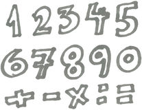 Marker numbers Stock Image