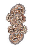Marker painted decorative ornament. Indian eastern lacework Royalty Free Stock Photos