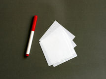 Marker and paper Royalty Free Stock Photos