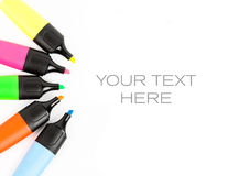 Marker pen. Coloured market pens for creative people Stock Photography