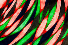 Marker pen drawing of curves. A close up of a marker pen sketch of color filled curves Stock Photo