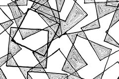 Marker pen drawing of squares Stock Photography