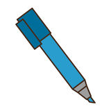 Marker pen isolated icon Stock Photography