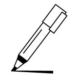 Marker pen isolated icon Royalty Free Stock Photo