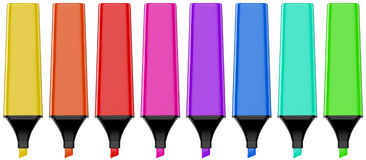 Marker pen set. 3D computer illustration isolated on white background Stock Image