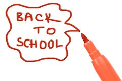 Marker pen writing -back to school Royalty Free Stock Photo