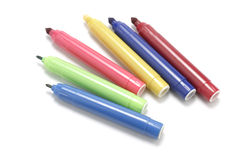 Marker Pens. On White Background Stock Photography