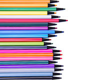 Marker pens ink lined messy Royalty Free Stock Photo