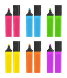 Marker pens set Stock Photo