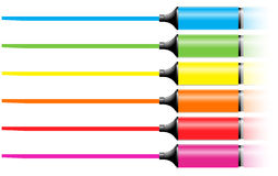 Marker Pens With A Line Royalty Free Stock Photography