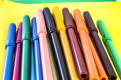 Marker Pile Stock Photography