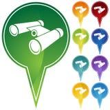 Marker Points - Binoculars Stock Photo
