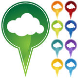 Marker Points - Cloud Royalty Free Stock Photography
