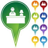 Marker Points - Front Desk Royalty Free Stock Images