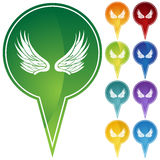 Marker Points - Wings Royalty Free Stock Image