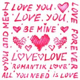 Marker text for Valentine's day or wedding Stock Images