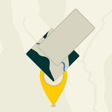 Marker traveler Stock Images