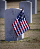 Marker at Veterans Cemetery Royalty Free Stock Photo