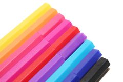Colorful marker in white background Stock Photo