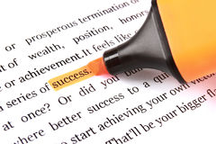 Marker and word success Stock Photography