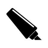 Marker write school utensil pictogram Stock Images