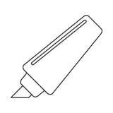 Marker write school utensil thin line Royalty Free Stock Photography