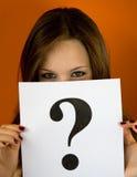 markera frågan Fotografering för Bildbyråer