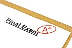 markerad examenfinal Arkivbilder