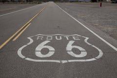 markerande route för väg 66 royaltyfri fotografi