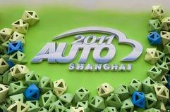 markerar den auto utställningen för tillträde 2011 shanghai Royaltyfri Fotografi