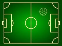 Markering av ett fotbollfält och en fotbollboll Royaltyfri Foto