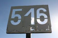Markering av staden 516 royaltyfri bild