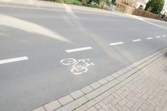 Markering för vägyttersida royaltyfri bild