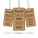 Markering voor verkoop Royalty-vrije Stock Foto's