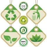 Markeringen en stickers 1 van Eco Royalty-vrije Stock Fotografie