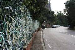 Markeringsmuur, Barcelona Spanje Royalty-vrije Stock Afbeelding