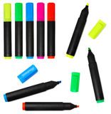 Markers. Colorful markers isolated on white Stock Image