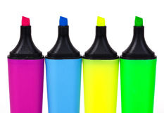 Markers. Colorful markers in a row Royalty Free Stock Images
