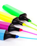 Markers. Colorful markers in a row Royalty Free Stock Image