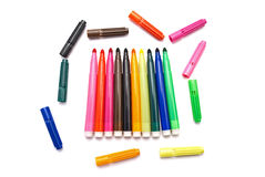 Markers. Royalty Free Stock Photos